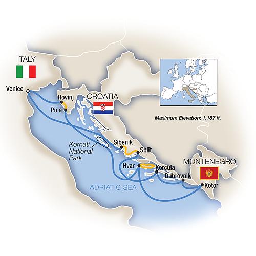 Dalmatian Coast Cruises Venice Venice Amp Dalmatian Coast
